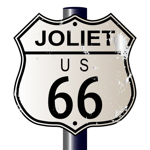 historic route 66 sign in joliet, il